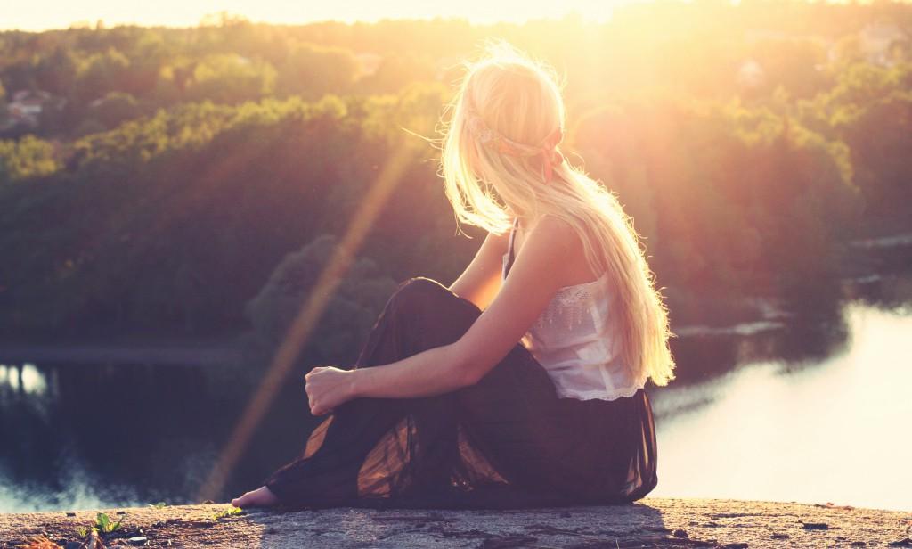 Sonne, Mädchen, Geduld